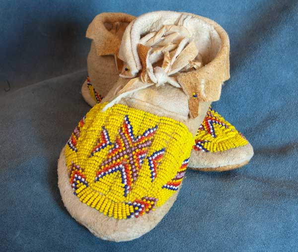 Beautiful Hand made Beaded Moccasins